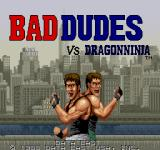 Bad Dudes Arcade Title Screen.
