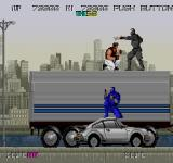 Bad Dudes Arcade Stage Two on top of a truck.