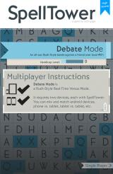 SpellTower Android Setting up the Debate multiplayer mode.