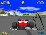 Virtua Racing Arcade 3rd person view.