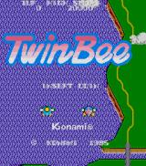 TwinBee Arcade Title screen
