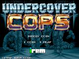 Undercover Cops Arcade Title screen