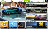 Asphalt 8: Airborne Android Main menu (German version)