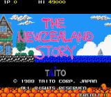 The New Zealand Story Arcade Title Screen.