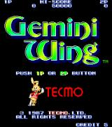 Gemini Wing Arcade Title screen