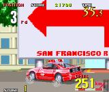 Cisco Heat: All American Police Car Race Arcade Taking the sharp bend.