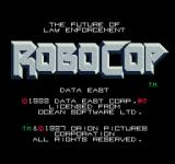 RoboCop Arcade Title Screen.
