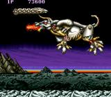 Saint Dragon Arcade 1st level Boss - a flying mechanic bull!!