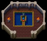 Breath of Fire SNES This gargoyle is just a saving point. You restart from it automatically with full HP and without losing levels every time you die!