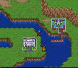 Breath of Fire SNES World map, towns.  Animals wander the world.
