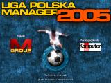 Liga Polska Manager 2005 Windows Title screen