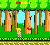Wonder Boy Game Gear Get fruit to increase your vitality