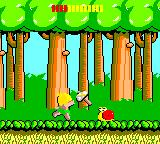 Wonder Boy Game Gear Throwing your hatchet at a snail