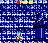 Wonder Boy Game Gear Skating through an icy area