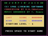Jumpin' Jack MSX Title screen