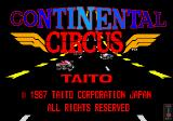 Continental Circus Arcade Title Screen.
