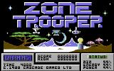 Zone Trooper Commodore 64 Title Screen.
