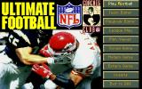 Ultimate NFL Coaches Club Football DOS Main Menu