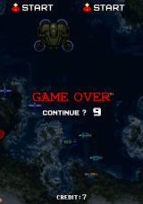 Strikers 1945 Arcade Game Over. Continue?