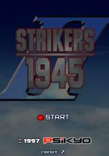 Strikers 1945 Arcade Title screen