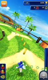 Sonic Dash Android Picking up rings