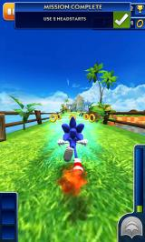 Sonic Dash Android Using a headstart
