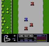 Famicom Grand Prix: F1 Race NES Leaving the grid.