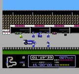 Famicom Grand Prix: F1 Race NES Pulling into the pit for repairs. Wait! Does that sign say nininini!?