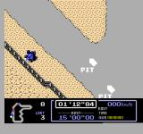 Famicom Grand Prix: F1 Race NES Wrecked my car right outside the pit! Alas!