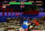 Samurai Shodown II Arcade Ukyo stabs the sword