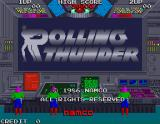 Rolling Thunder Arcade Title screen
