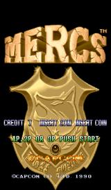 Mercs Arcade Title Screen.