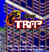 FireTrap Arcade Title Screen.