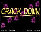 Crack Down Arcade Title Screen.