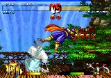 Samurai Shodown III: Blades of Blood Arcade Galford in air