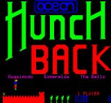 Hunchback Oric Title screen