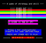 Mined-Out Oric Title screen