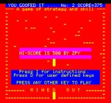 Mined-Out Oric Game over