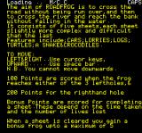 Road Frog Oric Instructions