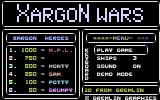 Xargon Wars Commodore 16, Plus/4 Title Screen.