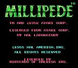 Millipede NES Title screen