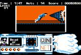 Techno Cop Apple II FIGHT! I took damage, but I managed to arrest the suspect with my net-gun!
