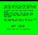 Jogger Oric Instructions