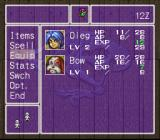 Breath of Fire II SNES Main menu