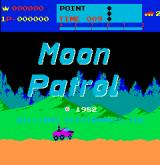 Moon Patrol Arcade Title screen