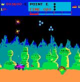 Moon Patrol Arcade Two types of UFO's attack