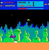 Moon Patrol Arcade Jumping over blowing missle