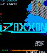 Zaxxon Arcade Title screen
