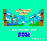 Wonder Boy in Monster Land Arcade Title screen