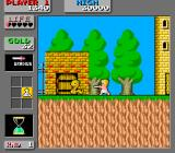 Wonder Boy in Monster Land Arcade Duel next to the tower